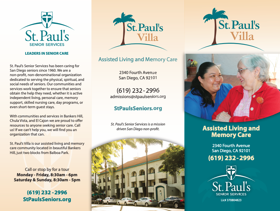 st paul memory assisted living san diego county